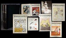 1906-07 Simplicissimus Jugendstil Satire Karikatur Faschingsnummer 2 Bde 11. Jg
