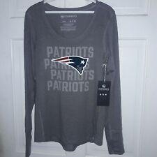 New England Patriots Women's NFL football Long Sleeve T-Shirt Pats '47 Ladies M