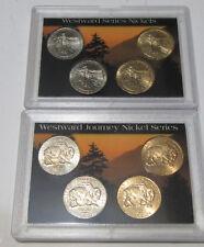 2-Westward Journey Nickel Series Sets 2005 American bison & Louisiana Purchase