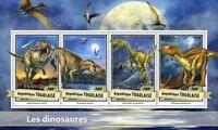 Togo 2017 MNH Dinosaurs Velociraptor Torvosaurus Malasaura 4v M/S Stamps