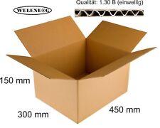 20 Faltkartons 450x300x150 mm B-410g/m2  Versandkarton Falt Kartons [ BRAUN ]