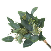 Artificial Fake Leaf Eucalyptus Green Plant Leaves Flowers Home Garden Decor