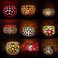 6 x CANDLE JAR & VOTIVE / TEA LIGHTS HOLDER