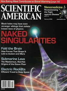 Scientific American Magazine Naked Singularities Nano Medicine Global Warming