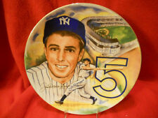 "NY Yankee Joe Dimaggio Signed 10 1/4"" Marigold Plate PRICE DROPPED $200.00!!"