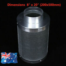 "8"" 200mm Inline Ventilation Fan Carbon Filter Ducting for Hydroponics Grow Tent"