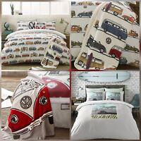 VW Campervan Bedding - Duvet Cover Set - COAST SURFER / FUN CAMPER - Licensed