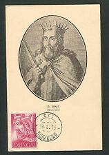 PORTUGAL MK 1955 KÖNIGE KÖNIG KING ROI REI MAXIMUMKARTE MAXIMUM CARD MC CM d5475