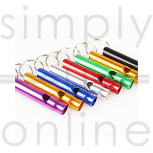 2 X Metal High Frequency Whistle Whistles Dog Puppy Training Pet Keyring