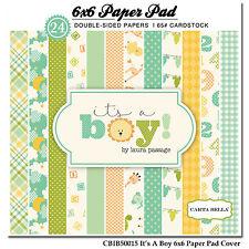 "Carta Bella Paper - It's A Boy Collection 6""x6"" Paper Pad - It's A Boy"