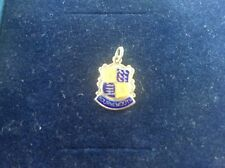 Vintage Solid Silver Enamel Hallmarked Bracelet charm Bournemouth Coat of Arms