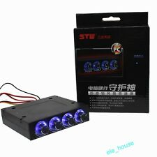 """3.5"""" PC Computer HDD CPU Fan Speed Controller Front Panel LED With 4 Channel"""