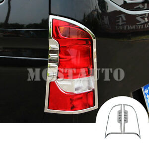For Mercedes Benz Vito ABS Chrome Rear Tail Light Lamp Cover 2pcs  2014-2018