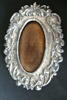 PICTURE FRAME ANTIQUE handmade silver 800 SMALL  SHIPPING WORLDWIDE