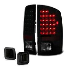 For 07-08 Dodge Ram 1500 2500 3500 Black Smoke LED Tail Lamp License Plate Light