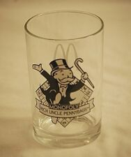 Vintage 1997 McDonald's Monopoly Rich Uncle Pennybags Glass Tumbler Drinking Cup