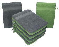 Betz lot de 10 gants de toilette Premium: gris anthracite & vert pomme, 16x21 cm