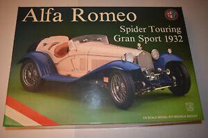 Pocher 1/8 scale model 1932 Alfa Romeo Spider Touring Gran Sport