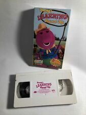 Rare Barney Learning Round Up VHS Tape Blockbuster Exclusive HTF VCR Kidmongous