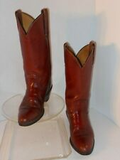 FRYE LEATHER WESTERN STYLE BOOTS SIZE 9D