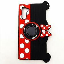 Cute Minnie Mouse Case For Galaxy Note 10 Rotating Ring Grip Holder Kickstand