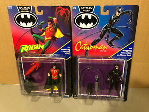 Lot of 2 Batman Returns Action Figures Catwoman & Robin Factory Sealed