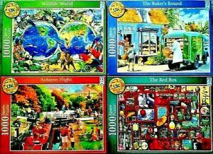 Bundle of 4 NEW SCHMID 1000 Piece Jigsaw Puzzles WILDLIFE WORLD - NEW & SEALED.