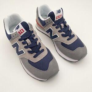 New Balance 574 Mens Sz 8 Marblehead Pigment Sneakers Gray Blue NEW NWOB