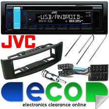 Renault Scenic 97-03 JVC CD MP3 RDS USB Aux Car Stereo & BLACK Facia Fitting Kit