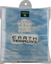 Terry-Covered Bath Pillow White, Earth Therapeutics, 1 piece