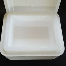 "Styrofoam Cooler 6"" x 8"" x 4.25"" Deep Fragile Shipping Moving Packing White"