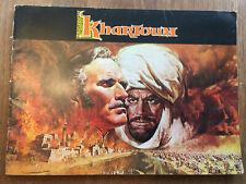 KHARTOUM 1966 MOVIE PROGRAMME 📽️ Charlton Heston, Laurence Olivier