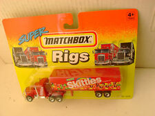 1994 MATCHBOX SUPER RIGS RED KENWORTH AERODYNE TRUCK & TRAILER FRUIT SKITTLES NE