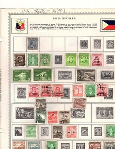 Philippines 100+ stamps  Collection of album pages some duplication  (mb22