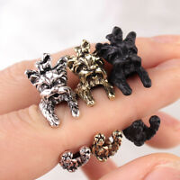 Puppy Dog Doggy Pet Ring Animal Antique Vintage Wrap Steampunk Adjustable Ring