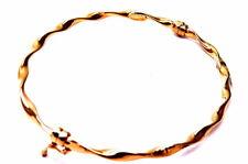 Gold Bracelet 18KT Rigid Twisted' Rose Gold