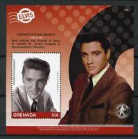 Grenada 2017 MNH Elvis Presley His Life in Stamps Shower of Stars 1v S/S II