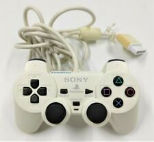 Genuine DualShock 2 Ceramic White Controller for Sony PlayStation 2 PS2 TESTED