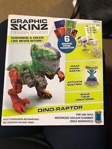 Mega Graphic Skinz Design Dino-Raptor Toy, NIB