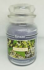 Hydrangea 22 OZ Yankee Housewarmer Candle Black Band Jar Candle