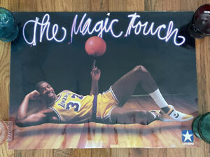 RARE VINTAGE 1980's CONVERSE MAGIC JOHNSON LOS ANGELES LAKERS MAGIC TOUCH POSTER