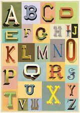 Vintage Typography Typesetting  Cavallini & Co 20 x 28 Poster Wrap