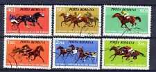 Chevaux Roumanie (33) série complète de 6 timbres oblitérés