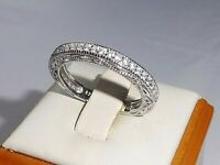 Ladies Hallmarked Sterling 925 Solid Silver & White Sapphire Full Eternity Ring
