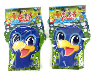 (2x) Glove A Bubble Bird Wave/Play w/Bubble Solution 2019 Outdoor Toy of Year
