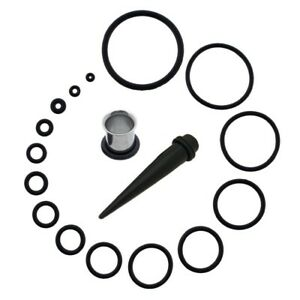 Black Rubber O-RINGS x2 Spare O Rings for Tapers Tunnels Plugs Stretchers