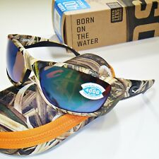 7d9e1cabf47 Costa Del Mar Fisch Polarized Sunglasses-Mossy Oak Camo Green Mirror 400G  Glass