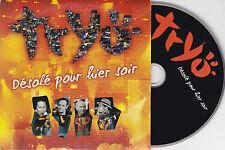 CD CARTONNE CARDSLEEVE TRYO DESOLE POUR HIER SOIR 3T + BONUS DE 2006