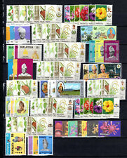 MALAYSIA MALAYA 1971-2007 STATES COMPLETE SETS OF MNH STAMPS UNMOUNTED MINT