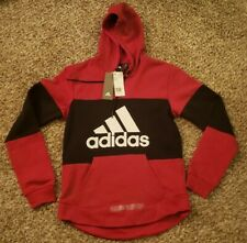 Adidas Mens Red Hoodie Pullover Brand New - W/ Tags Size Small